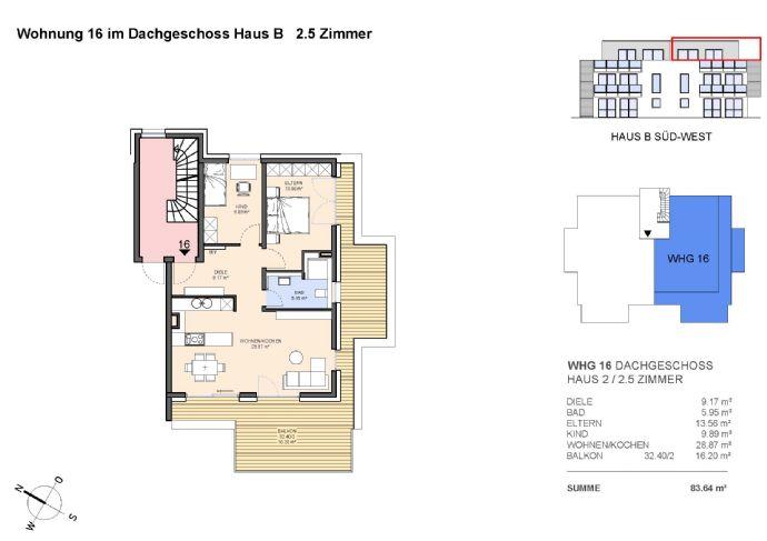 Penthouse 3-Zimmer mit großzügiger Dachterrasse
