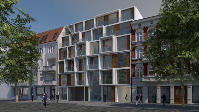 """Lichtdurchflutete 2-Zimmer-Wohnung mit Terrasse/Loggia und Balkon im 4. OG - Neubauprojekt: """"Neue Florahöfe"""""""
