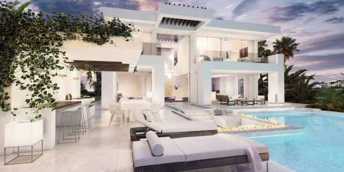 Neubau einer modernen Luxusvilla in Mijas Costa - Urb ...