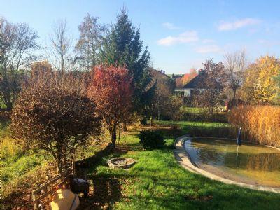Blick vom Balkon: herrliche Herbstimmung