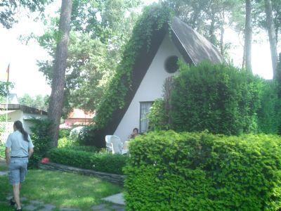 """Finnhütte in der Gartenanlage """"Am Wasserturm"""""""