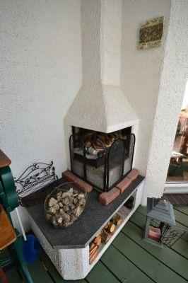 Kamin im Wintergarten