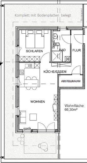 2,5-Zi. Penthouse-WG in betreuter Wohnanlage für 55jährige Mieter (Aktiv Wohnen im Alter) v. Priva