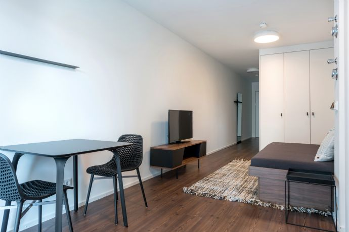 möbliertes 1-Zimmer-Apartment mit West-Balkon