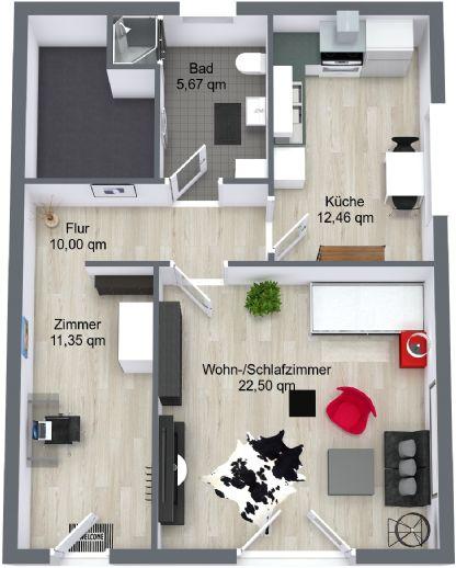 Schicke 1,5-Zimmer-Wohnung in Trier-Ruwer - Erstbezug