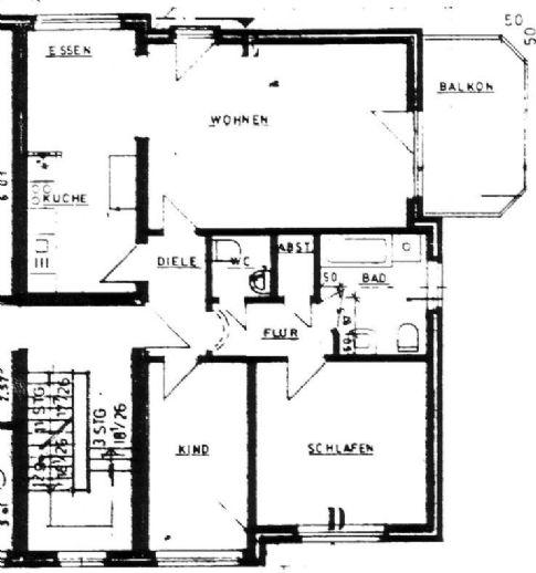 3 Zimmer-Wohnung in zentraler Lage in Bassum