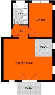 Tolle 2-Raum-Wohnung mit Balkon + TG-Stellplatz in ruhiger Lage