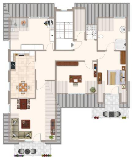 Tolle Dachgeschoß-Wohnung mit 2 Balkonen