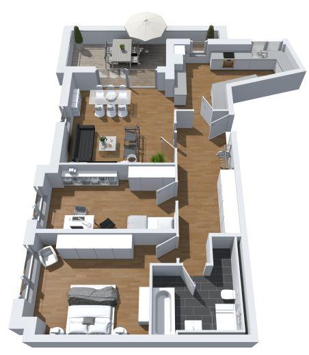 attraktive Penthousewohnung mit 3 Zimmern