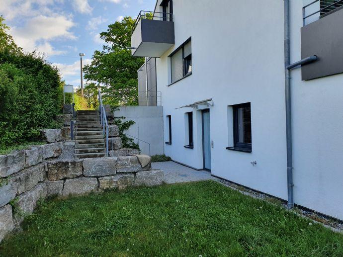 3 Zimmer Gartenwohnung mit 350 qm Garten, separatem Eingang 5 Familienhaus zentrumsnahe, Niederenergiehaus