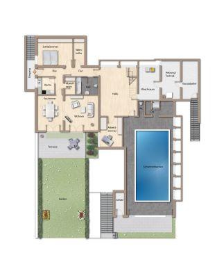hoffnungsthal gro z giges wohnen im bauhaus stil mit. Black Bedroom Furniture Sets. Home Design Ideas