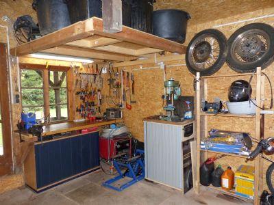 Werkstatt in Gartenhaus