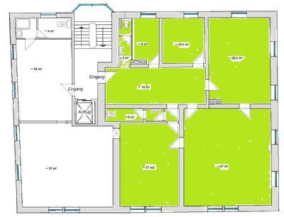 Mögliche Einheit mit ~ 145 m²
