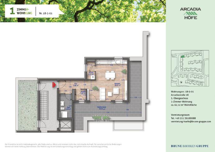 Erstbezug Penthouse Wohnung mit Panorama-Dachterrasse und Fußbodenheizung (barrierefrei) in den Arc
