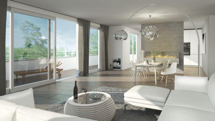 Beton-Optik oder Echt-Holz ? Maisonette-Wohnung der Extraklasse in Saarbrücken Franzenbrunnen