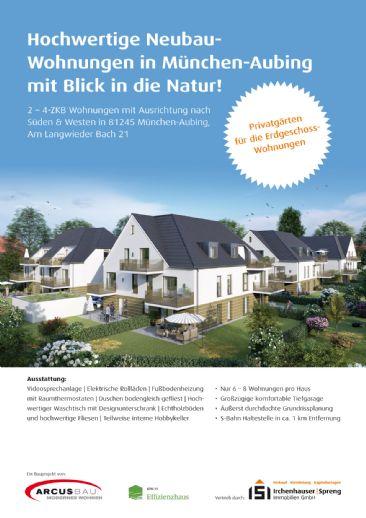 München-Aubing! 2-ZKB Dachgeschoss-Wohnung mit 5,80 m² Süd-Balkon, elektrischen Rollläden, Fußbodenheizung, Videosprechanlage und Dusche bodengleich!