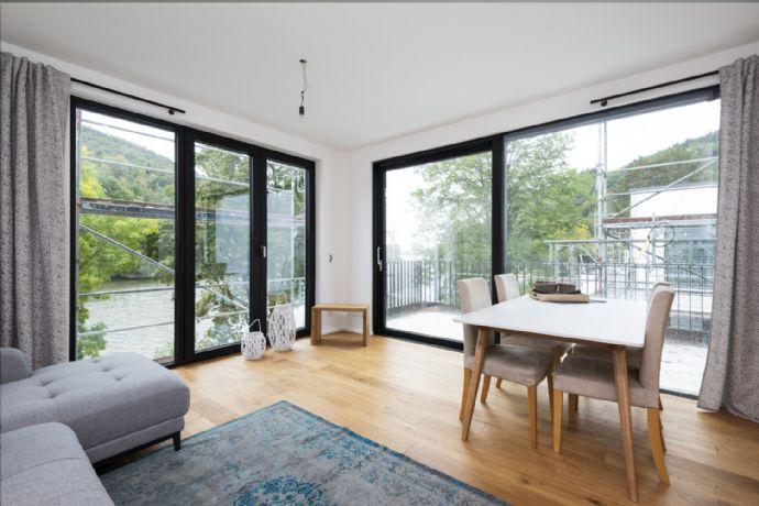 Penthouse voll möbliert inklusive Atemberaubender Dachterrasse. Luxus direkt am Neckar!