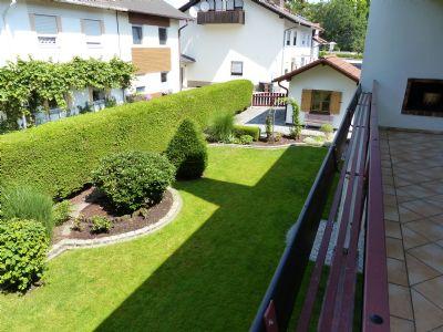 Ausblick Balkon - West-Garten