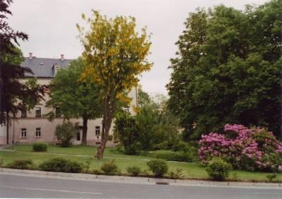 öffentlicher Park vor dem Haus