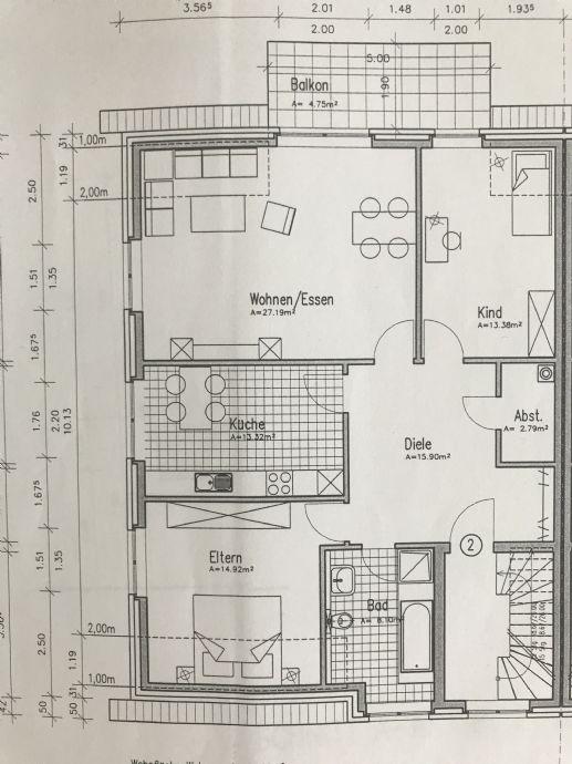 Neue Mieter für eine 3-ZKB-Wohnung gesucht.