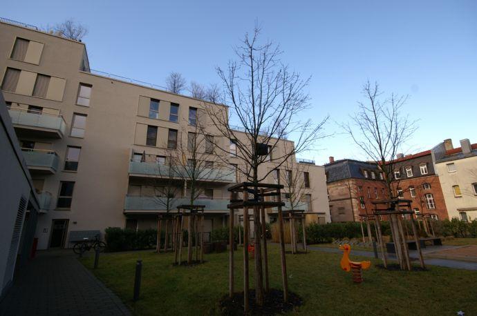Große Dachterrasse: 3-Zi-Wohnung, Nähe City und Wöhrder Wiese, Neubau