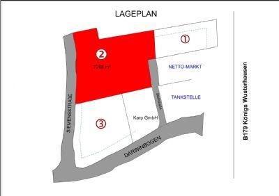 Lageplan Grundstück 2=7766m²+Grundstück1=ca.5200m²