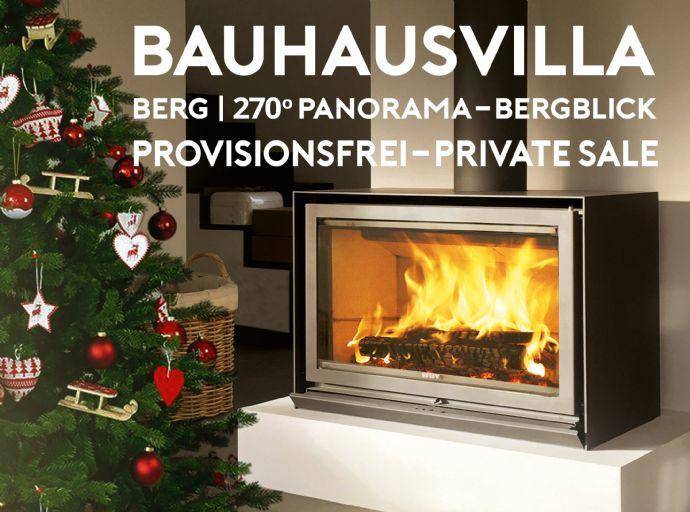 PROVISIONSFREIE Flachdach Bauhausvilla mit grandiosem Panorama-Berg-Blick