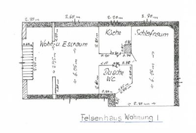 Felsenhaus Wohnung1