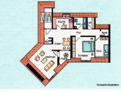 moderne 3 5 zimmer city wohnung mit loggia tg stellplatz wohnung schw bisch gm nd 2lmum4y. Black Bedroom Furniture Sets. Home Design Ideas
