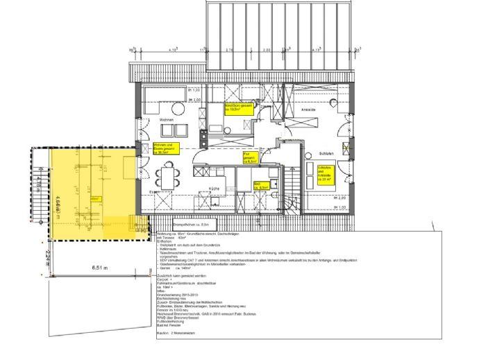 freundliche Kernsarnierte 3-Zimmer DG-Wohnung mit Dachterrasse in Borken-Weseke