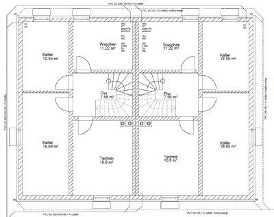 Plan Kellergeschoss