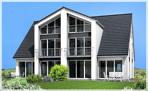 Neubau von zwei Doppelhaushälften im Grünen - Altdorf-Röthenbach