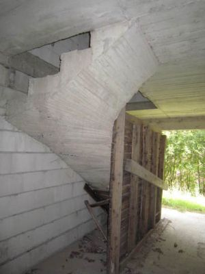 Treppenaufgang ins OG, Rohbau