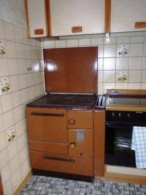 Der Holzofen in der Küche