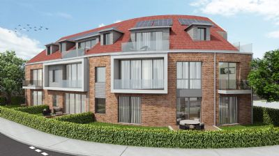 2-Zimmer-Neubau-Erdgeschosswohnung in Lüneburg mit kleinem Gartenanteil und Terrasse