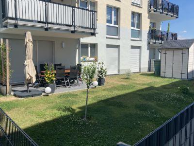 Wohnen in der neuen Mitte von Nidderau, 3-Zimmer-Wohnung mit Terrasse und Garten