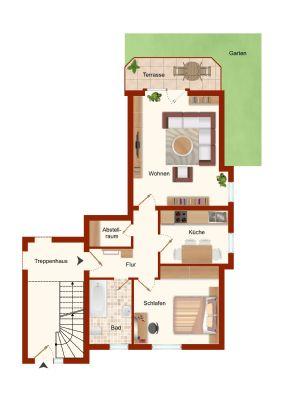 clevere verm gensbildung erdgescho wohnung mit terrasse in zentraler lage vogel immobilien. Black Bedroom Furniture Sets. Home Design Ideas