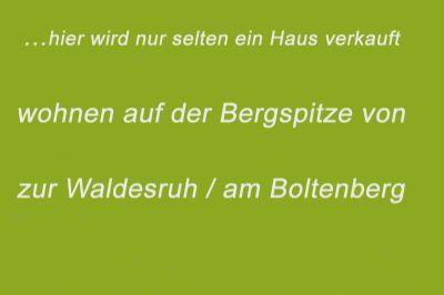 zur Waldesruh / am Boltenberg