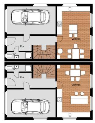 Alternative Erdgeschoß Grundriss