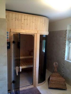 Rohrdachhaus Sauna