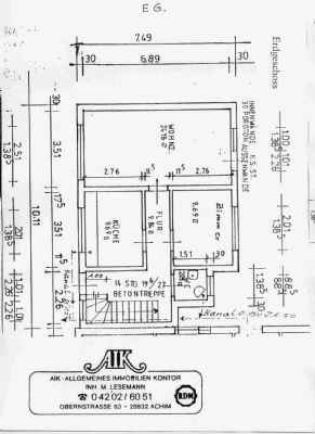 Grundrissplan - Erdgeschoss