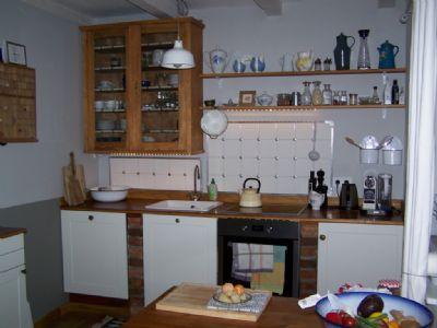 Reetdachhaus alte Klinker Küche