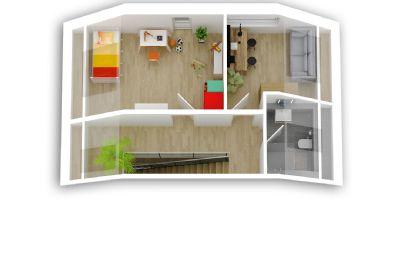Dachgeschoss Grundrissperspektive