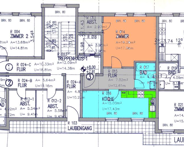 Moderne 1-Raum Wohnung