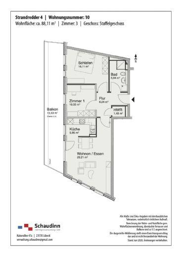 3 Zimmer 88m² - direkt an der Ostsee - Whg.10