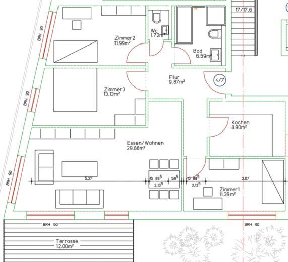 geräumige 4-Zimmer Wohnung in Solinger Neubau zu vermieten