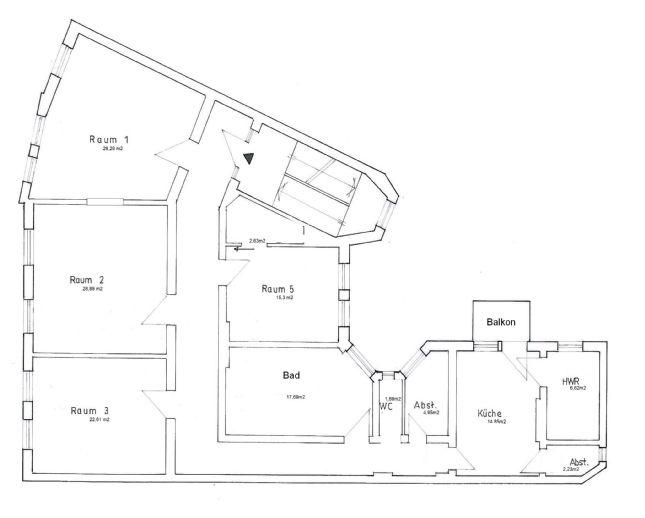 Schöne große Altbauwohnung im 3.OG ab 1.3, nähe Friedenskirche, gern Familie, direkt vom Vermieter.