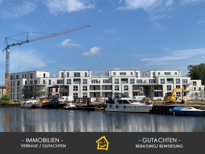 White City - Wohnen am Alten Hafen, Neubau, 3 Zimmer, 103 m² Wfl. Terrasse südwestliche Ausrichtun