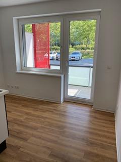 Modernes 1-Raum-Apartment mit Küche und Balkon