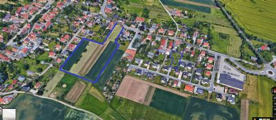 Großes Baugrundstück  Südausrichtung unverbauter Blick im neuen Baugebiet Reichenberg